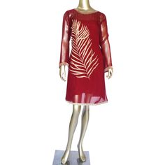 Gold Leaf: Georgette kurti with zari embroidery! Shop Now! https://www.studiokairi.com/product.php?product=kairi261