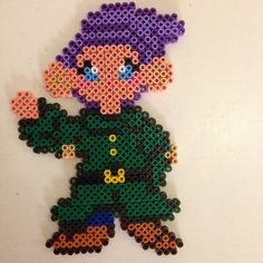 Snow White Dopey hama perler beads by pagey163