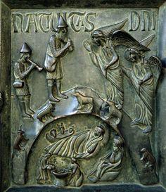 Natività e annuncio ai pastori - Bonanno Pisano - XII secolo - Porta San Ranieri, Duomo di Pisa - Saint Ranieri's Door