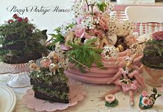 Penny's Vintage Home: Mud Pies and a Pink Garden Hose Spring Tablescape