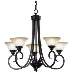Kenroy Home Welles 5-Light Oil Rubbed Bronze Chandelier-80475ORB at The Home Depot $293.40
