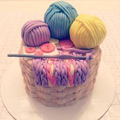 Crochet themed cake