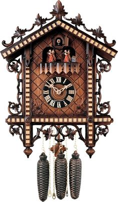 Shop for authentic Black Forest Cuckoo Clocks, Nutcrackers, German Smokers and Beer Steins from Fehrenbach Black Forest Cuckoo Clocks online store. Coo Coo Clock, Black Forest Germany, Father Time, Cool Clocks, Antique Clocks, Antique Watches, Time Clock, Clock Decor, Eames