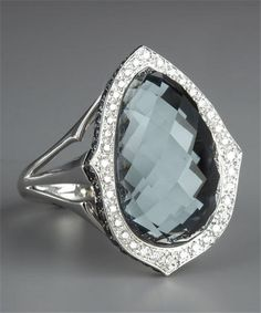 Stephen Webster hematite diamond ring