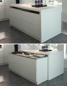 Top 16 Most Practical Space Saving Furniture Designs For Sma.- Top 16 Most Practical Space Saving Furniture Designs For Small Kitchen Top 16 Most Practical Space Saving Furniture Designs For Small Kitchen - Kitchen Interior, Kitchen Design Small, Spacious Kitchens, Hidden Kitchen, Space Saving Kitchen, Modern Spaces, Home Kitchens, Space Saving Furniture, Kitchen Design