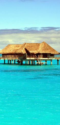 Espectacular paisaje de Bora Bora, Tahiti, en la polinesia francesa