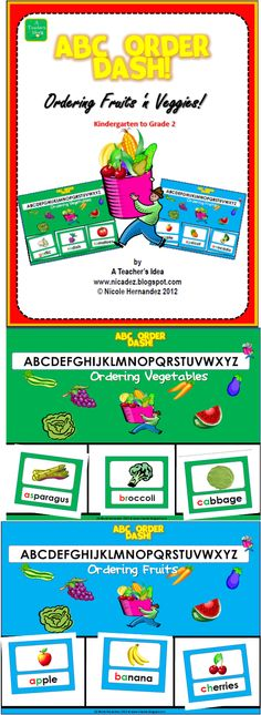Priced Item- Ordering Fruits 'n Veggies-ABC Order