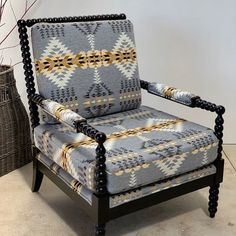 A Monday started from this gorgeous spool chair couldn't possibly be wrong. Dream Furniture, Refurbished Furniture, Furniture Decor, Spool Chair, Cabin Interiors, Rustic Interiors, Log Cabin Designs, Cabin Chic, Southwestern Home