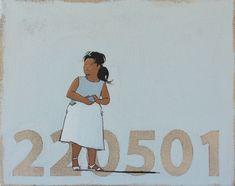 ANONIMO 13  Encontrar la identidad personal en un número, reconocerse en códigos arbitrarios para distinguirse en rasgos vacuos, afiliados a la indefinición.  'Anónimos' es una serie de 60 obras que explora la relación entre las personal reales y su presencia en la escena virtual en que viven sumergidos: anónimos controlados anónimamente.  Óleo sobre lienzo 24x30 Snoopy, Fictional Characters, Art, Personal Identity, Oil On Canvas, Scene, Canvases, Scouts, Art Background