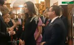 The Duchess of Cambridge in Jenny Packham at a state reception in Government House