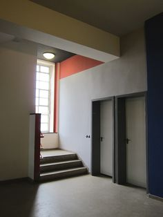 We recently visited Berlin and took a day trip to tour the Bauhaus school in Dessau. Bauhaus Style, Bauhaus Design, Art Nouveau, Art Deco, Walter Gropius, Mondrian, Bauhaus Interior, Interior Architecture, De Stijl