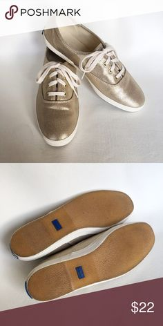 Like New Gold Keds Like new. Worn maybe 3 times. Beautiful soft gold color. Keds Shoes Sneakers