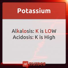 How is potassium affected in metabolic acidosis and metabolic alkalosis? --- Visit qdnurses.com/qdmemes for your daily dose of nursing education!