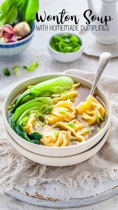 Chinese Cooking Wine, Asian Cooking, Chinese Food, Frozen Dumplings, Homemade Dumplings, Appetizer Recipes, Soup Recipes, Cooking Recipes, Creamy Chicken And Dumplings
