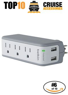 Cruise Accessories most purchased on Amazon. #6 of 10 - Power Strip. Click to see all 10!