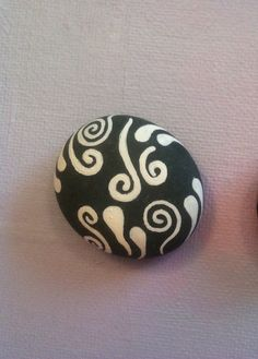 Hand-painted stone art
