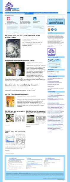 Breastfeeding website resource: Kellymom.com