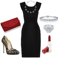 Accesorios para vestidos de fiesta negro