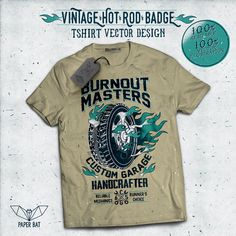 Vintage Hot Rod Badge 05 T-shirt clip art