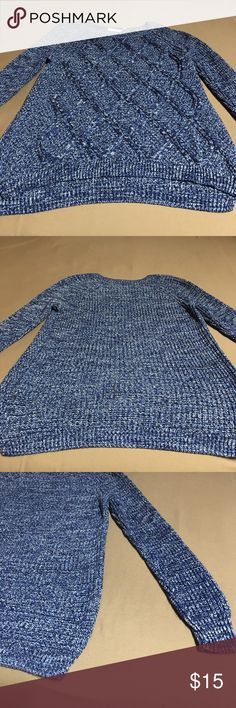 Faded Glory Women's Sweater Size 16-18 Blue and sparkly gray color long sleeve sweater. Very good condition no stains or holes Faded Glory Sweaters