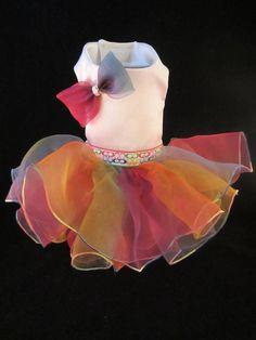 Scribble C's Dog Dress XS  _ Dog Clothes  #HandMade _ facebook Kim's Posh Pets  contact: kimsposhpets@gmail.com