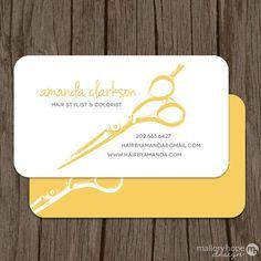 Modern Hair Stylist Business Card / Calling Card - Set of 100 ©MalloryHopeDesign, Beauty Business Cards, Business Cards Layout, Salon Business Cards, Hairstylist Business Cards, Simple Business Cards, Business Card Design, Salon Signs, Mobile Beauty, Bussiness Card