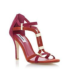 Dune Shoes: rust & burgundy heels