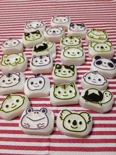 Cute animal head stamps