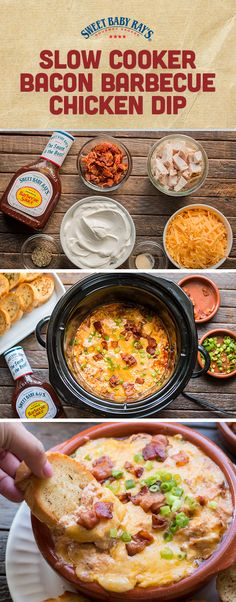 Killer BBQ Chicken Dip for your slow cooker!