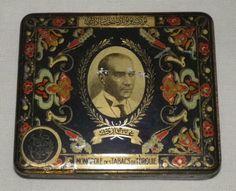 Seltene Alte Zigarettendose Blechdose Tin Box Cigarettes 1900 Art Nouveau Deco