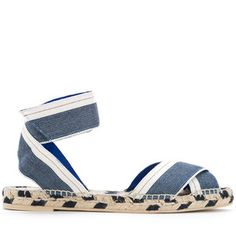 85f7016288e Stella McCartney denim raffia espadrille sandals
