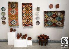 Simferopol'daki eski Kırım eşyaları sergisi.