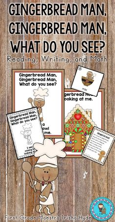 It's that time of year for gingerbread. Students will love this Gingerbread Unit. It features my Gingerbread, Gingerbread, What do you see? book. This unit includes a Full Size Gingerbread, Gingerbread What do you See? book full color for a teacher read aloud or a mini version in b/w for students to read and color. I have also included retell cards that would make a great literacy station. In addition, there is a Gingerbread, Gingerbread comprehension activity where students color the…