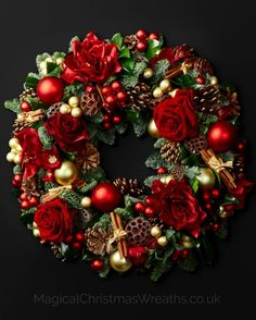 The Magical Christmas Wreath Company create handmade, luxury Christmas decor in our magical workshops using fresh, natural, hand picked seasonal foliage and deliver nationwide to your door of choice. Magical Christmas, Noel Christmas, Christmas Crafts, Christmas Ornaments, Christmas Door Wreaths, Holiday Wreaths, Luxury Christmas Decor, Amaryllis, Creation Deco