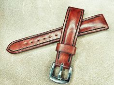 eedd8be51b3 30  Italian vegetable leather handcrafted wrist watch band. Create your  daily vintage look!