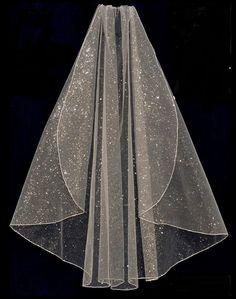 Sparkling Glitter Glamour Tulle Fingertip Chapel or