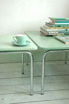 Mint Inspiration for Home. Mint Inspiration for Home. Mint Table, Green Table, Table Verte, Mint Green Aesthetic, Monochromatic Room, Sweet Home, Azul Tiffany, Tiffany Blue, Sofa Couch