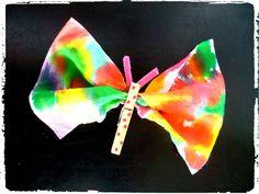 Papillon, été, bricolage, enfant