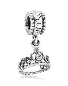 PANDORA Dangle Charm - Sterling Silver had it for 3 months, and then it broke from the top of the crown away from the bead above, so put the crown onto my bracelet, but it made me sad...