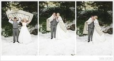 #snow #wedding #quilt #yellow #love photography by saralucero.com
