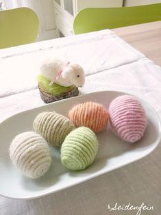 seidenfeins Blog vom schönen Landleben: Last minute Deko : Woll - Eier * DIY * woolen eggs - a fast diy