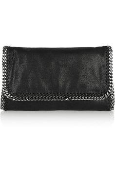 Stella McCartneythe Falabella faux brushed-leather shoulder bag for $895 available at Net-A-Porter #vegetarian #luxuryhandbags #handbags #veganhandbags #luxury