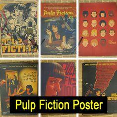 Pulp Fiction Vintage Retro Matte Kraftpapier Antikes Plakat Wandaufkleber Home Decora
