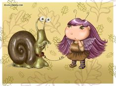pictures of bug fairies   Fairy-bug & her snail. 2007.