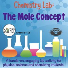 Chemistry Lab: The Mole Concept by Amy Brown Science Science Topics, Science Education, Science Activities, Science Ideas, Middle School Science, Elementary Science, Elementary Schools, Upper Elementary, Science Room