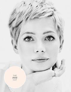 Everyone is going #pixie these days. Will you follow the trend? #hair #michellewilliams