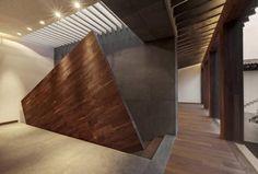 Rancho San Francisco: Pasillo, hall y escaleras de estilo translation missing: mx.style.pasillo-hall-y-escaleras.moderno por Lopez Duplan Arquitectos
