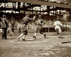 This is White Sox v Senators doubleheader at Griffith Stadium, Washington DC, July 28, 1925