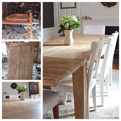 How to Refinish a Table...Dining Table to Restoration Hardware Inspired Farmhouse Table - Lehman Lane
