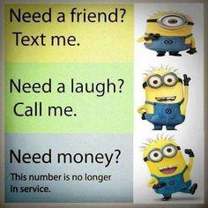 Funny Lol Humor Minions Pics 60 New Ideas Funny Minion Pictures, Funny Minion Memes, Minions Quotes, Funny Relatable Memes, Funny Texts, Funny Jokes, Minions Pics, Hilarious, Minion Stuff